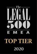 Legal 500 - Top Tier FinTech - belgium Simont Braun
